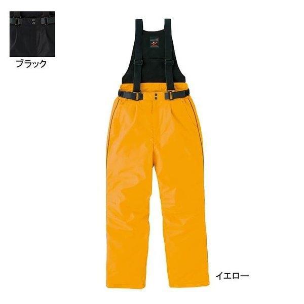 アイトス AZ-6064 防寒サロペット 表地:フルダルディスポ・平織り・ポリエステル100% 中綿:ポリエステル100%(光電子繊維混) 裏地:背当て/フリース、ズボン部分/タフタ(ナイロン100%) 耐水圧5,000mmH2O・撥水 防風 反射材使用