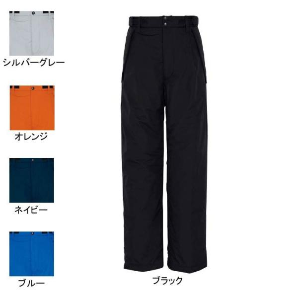 アイトス AZ-6162 防寒パンツ(男女兼用) 表地:リップストップ・平織り・ポリエステル100%・透湿防水 中綿:ポリエステル100%(光電子繊維混) 裏地:メッシュ・ポリエステル100% 耐水圧2,000mmH2O・シームテープ加工