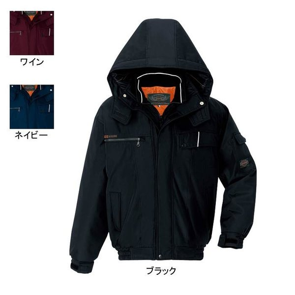 アイトス AZITO AZ-8561 防寒ブルゾン(男女兼用) 表地:240Tマイクロボンディング・平織り・ポリエステル100% 中綿:ポリエステル100% 裏地:メッシュ(肩裏) 反射材使用 防風