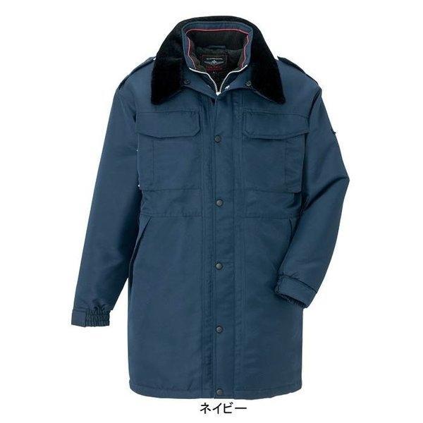 アイトス AZ-8465 防寒コート(セミロング)(男女兼用) 表地:ポリエステルツイル・綾織り・ポリエステル100% 中綿:ポリエステル100% 裏地:メッシュ(肩裏)・ポリエステル100%