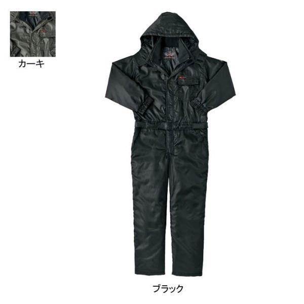 アイトス AZ-8264 防寒ツナギ 表地:バーズアイ・ポリエステル100% 中綿:ポリエステル100% 裏地:タフタ・平織り・ポリエステル100%