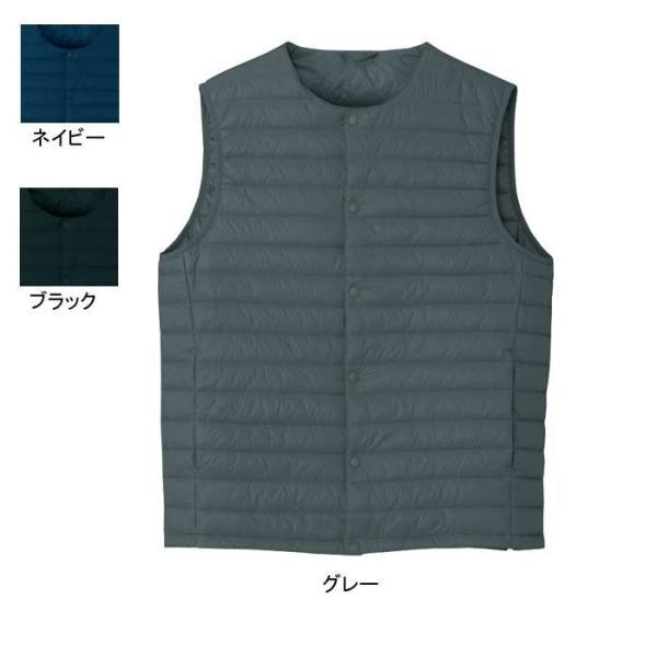アイトス AZ-9000 インナーベスト(男女兼用) 表地:300Tタフタシレ・平織り・ポリエステル100% 中綿:ポリエステル100%