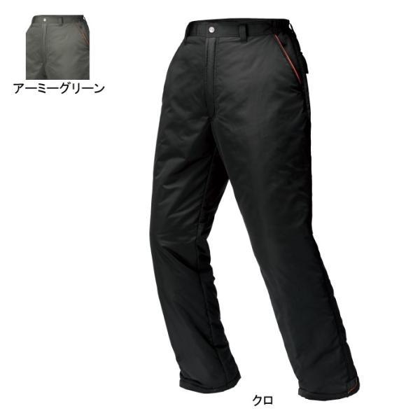 ジーベック 340 防寒パンツ [表]ポリエステル100%(高密度タフタ)、[裏]ポリエステル100%、[中綿]ポリエステル100% 超撥水加工 防風性