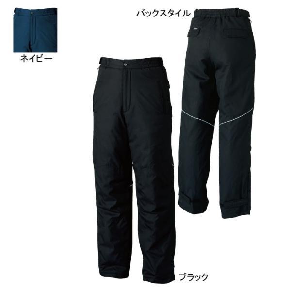 桑和 44909 防寒ズボン 撥水 表・裏・中綿:ポリエステル100% 裏アルミプリント 反射パイピング