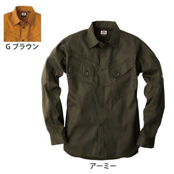ディッキーズ D-1238 長袖シャツ ポリエステル65%・綿35%