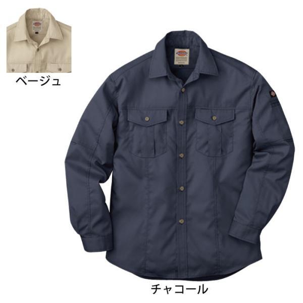 ディッキーズ D-1878 長袖ロールアップシャツ ソフトバーバリー(制電) ポリエステル65%・綿35%