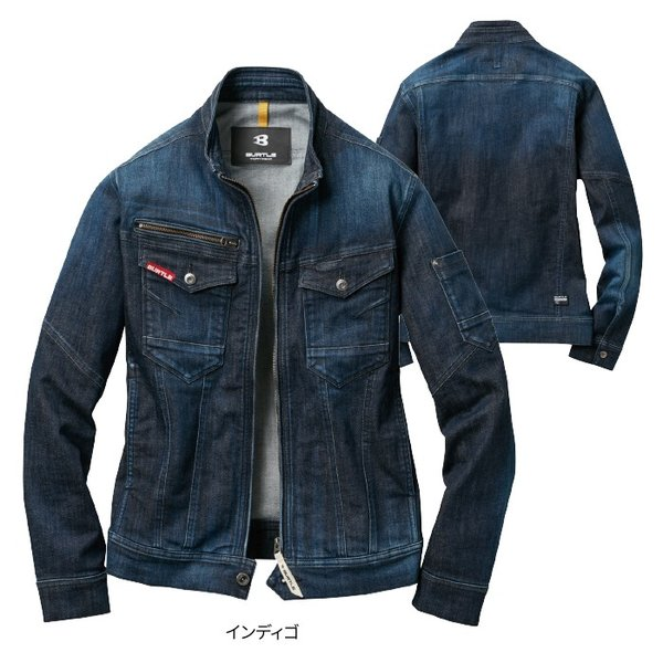 バートル 531 ジャケット(ユニセックス) ストレッチデニム(伸長率25%) ブラスト加工 綿99%・ポリウレタン1%