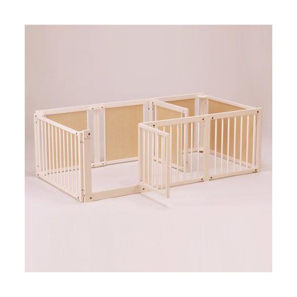 ペットサークル [ サークル プラス F60 Lp] 木製 小型犬 サークル 多頭飼い 室内用 日本製|kintaro-w|02