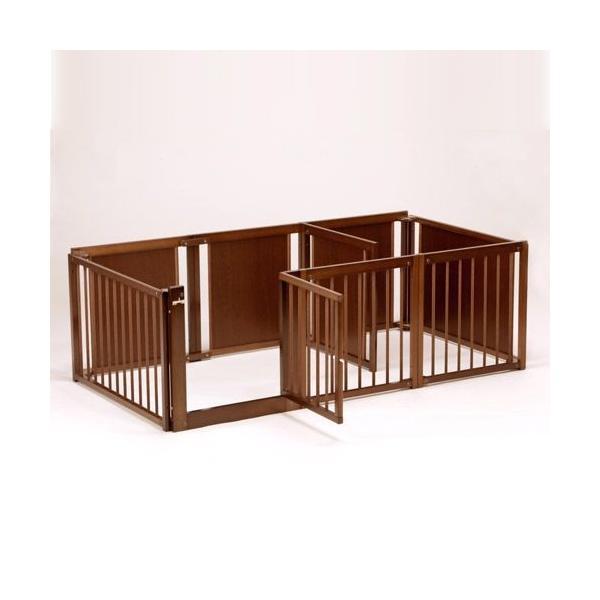 ペットサークル [ サークル プラス F60 Lp] 木製 小型犬 サークル 多頭飼い 室内用 日本製|kintaro-w|03