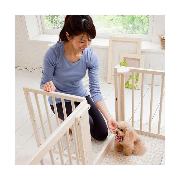 ペットサークル [ サークル プラス F60 Lp] 木製 小型犬 サークル 多頭飼い 室内用 日本製|kintaro-w|04