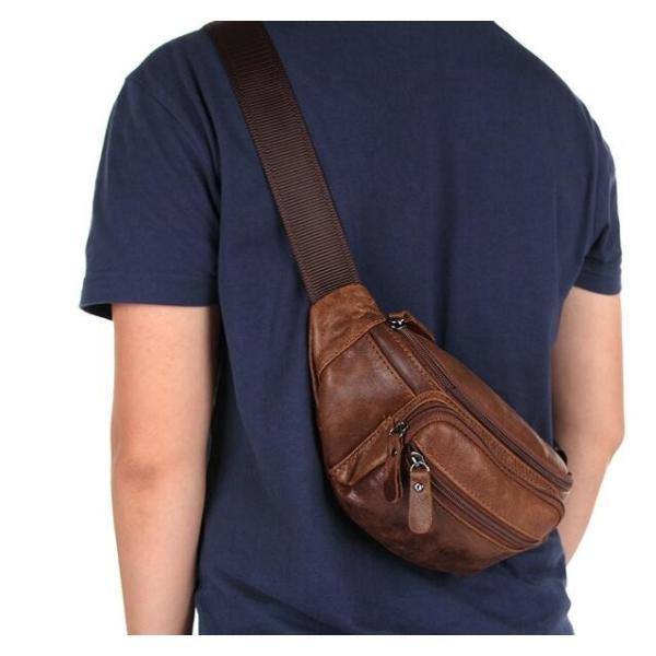 ボディバッグ メンズバック 斜め掛け 自転車バッグ 鞄かばん 牛革 レザー 高品質 小型ショルダーバッグ シンプル 皮革バッグ 通勤通学