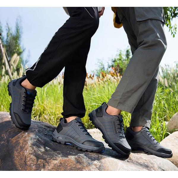トレッキングシューズ 靴 メンズ レディース スニーカートレッキング アウトドア シューズ 男女兼用 裏起毛 登山靴 ハイキング 防滑 遠足 スポーツ 運動靴 登山|kintatsu|12