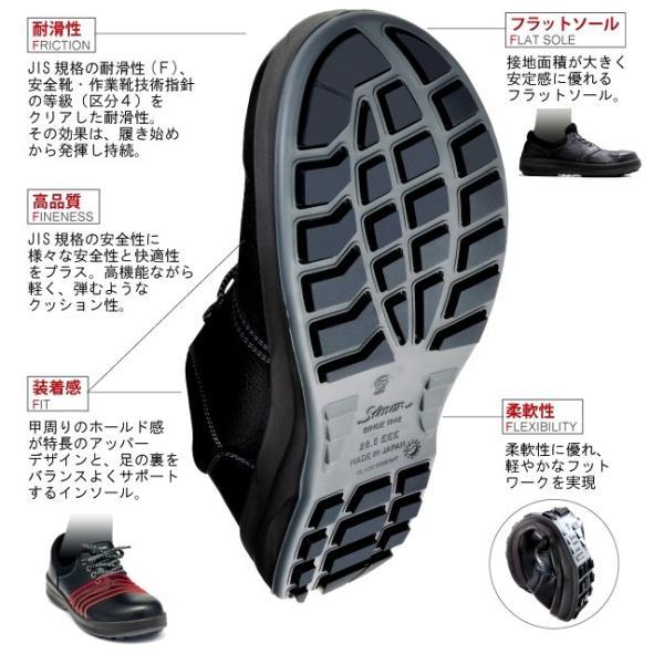 安全靴 Simon シモン 短靴 ウォーキングセーフティ 大きいサイズ 29cm 30cm  SX3層底 WS11 kintokiya 02