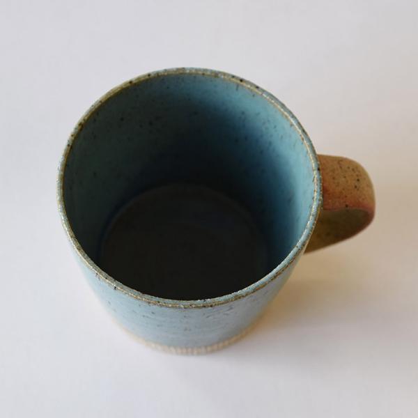 マグカップ デカマグ削り ターコイズ おしゃれ 陶器 大きいマグカップ 350cc 美濃焼 日本製 箱入り 食器 プレゼント ギフト ラッピング対応 あすつく kintouen 05