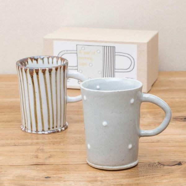 SALE マグカップ ペア ニューモーニング マグ  セット おしゃれ 陶器 食器セット 美濃焼 日本製 専用箱入り 和食器 プレゼント ギフト ラッピング対応|kintouen