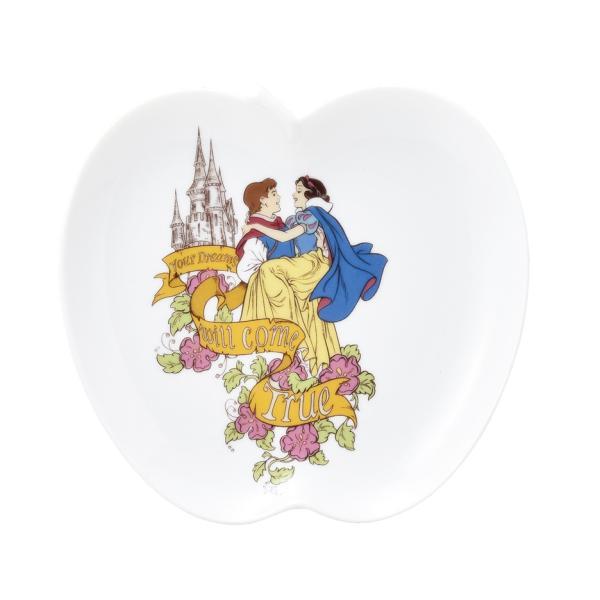 ディズニー 白雪姫 りんごのプレート M 箱入り レンジOK 日本製 食器 プレゼント ギフト ラッピング可能|kintouen