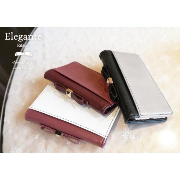 スマホケース 手帳型 iphone8 iPhoneXR Xperia 1 XZ3 XZ2 携帯ケース AQUOS R3 R2 Zero android ONE S5 Softbank オシャレ リボン 鏡|kintsu|13