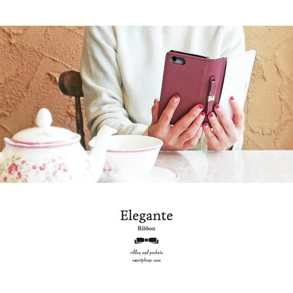 スマホケース 手帳型 iphone8 iPhoneXR Xperia 1 XZ3 XZ2 携帯ケース AQUOS R3 R2 Zero android ONE S5 Softbank オシャレ リボン 鏡|kintsu|05