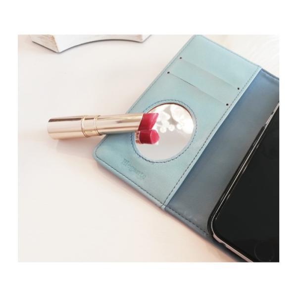 スマホケース 手帳型 iphone8 iPhoneXR Xperia 1 XZ3 XZ2 携帯ケース AQUOS R3 R2 Zero android ONE S5 Softbank オシャレ リボン 鏡|kintsu|07