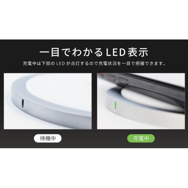 ワイヤレス充電器 qiワイヤレス充電 iphone8 iphonex 急速充電 アイフォン8 galaxy 置くだけ qi急速|kintsu|04