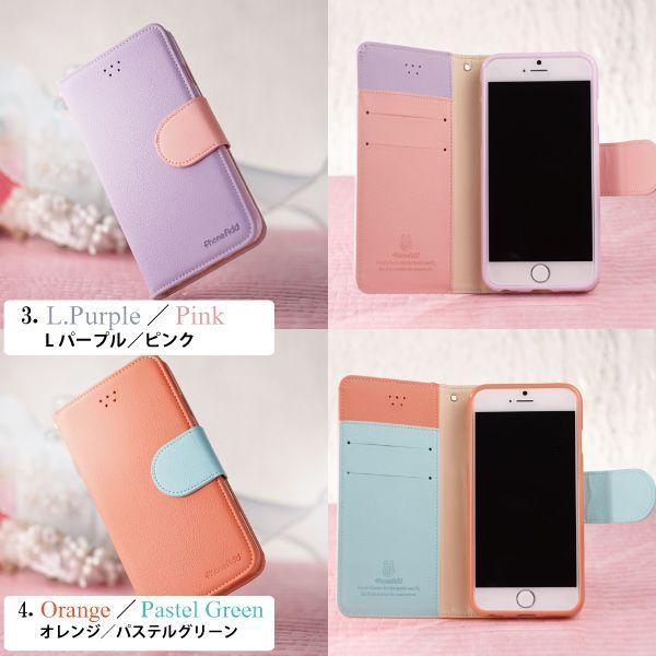 iPhone6s Galaxy S5 S4 手帳型ケース パステルカラー 手帳型カバー フリップケース/ kintsu 03