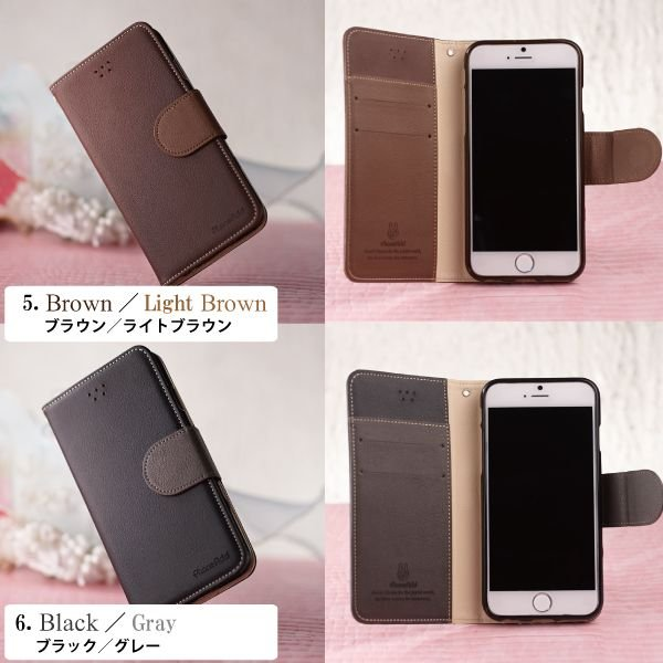 iPhone6s Galaxy S5 S4 手帳型ケース パステルカラー 手帳型カバー フリップケース/ kintsu 04