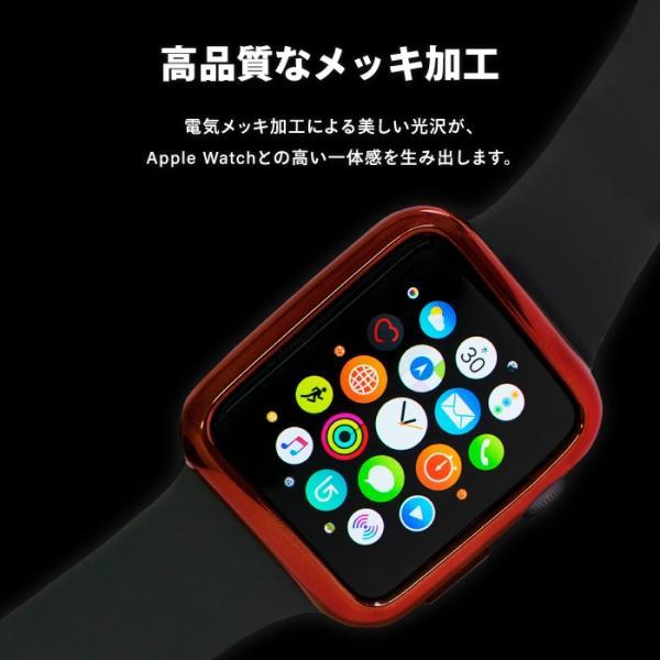 アップルウォッチ カバー 42mm 38mm apple watch ケース 耐衝撃 おしゃれ 高級 tpu メッキ加工 メタリック 光沢|kintsu|02