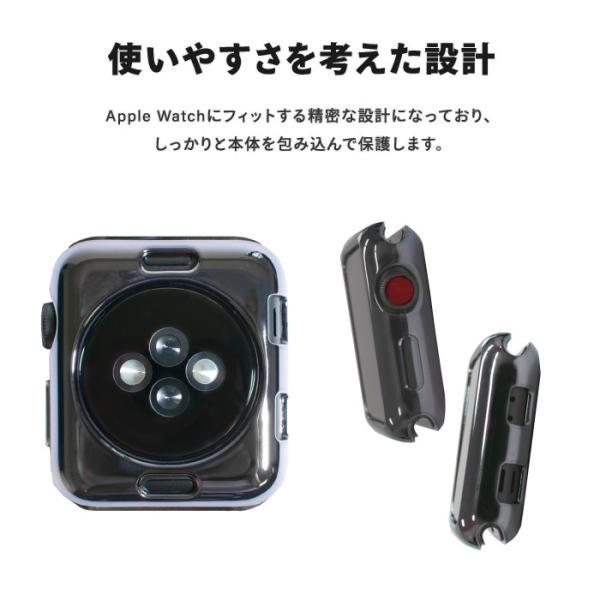 アップルウォッチ カバー 42mm 38mm apple watch ケース 耐衝撃 おしゃれ 高級 tpu メッキ加工 メタリック 光沢|kintsu|04