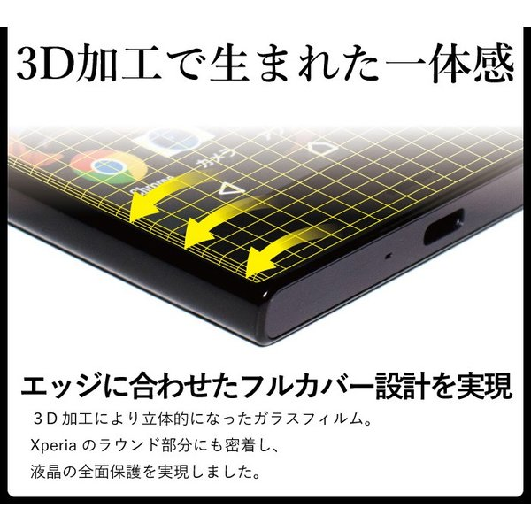 xperia xz1 液晶保護フィルム ガラスフィルム 強化ガラス 全面保護 携帯フィルム エクスペリア XZs XZ kintsu 03