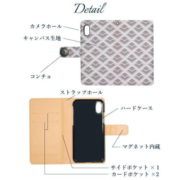 スマホケース 手帳型 iphone 11 pro max iphone8 iPhoneXR Xperia XZ3 XZ2 携帯ケース AQUOS R3 R2 Zero android ONE S5 Softbank オシャレ コンチョ|kintsu|11