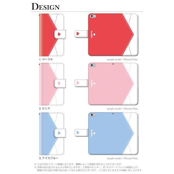 iPhone 6 Plus ケース 手帳型 ラブレター 手紙 ハート カバー|kintsu|02