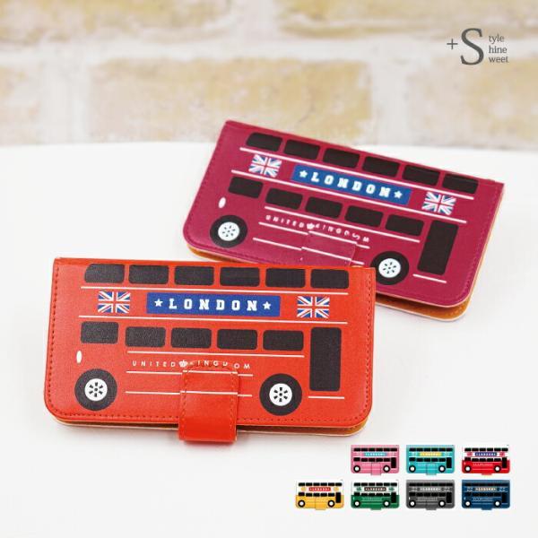 スマホケース 手帳型 iphonex ケース 携帯ケース アイフォンx スマホカバー 手帳 アイホン おしゃれ 面白い バス|kintsu