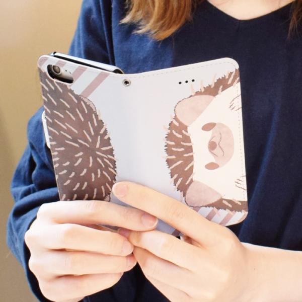 スマホケース 手帳型 iphonexs ケース 携帯ケース アイフォンxs スマホカバー 手帳 アイホン おしゃれ 動物 ハリネズミ|kintsu|11