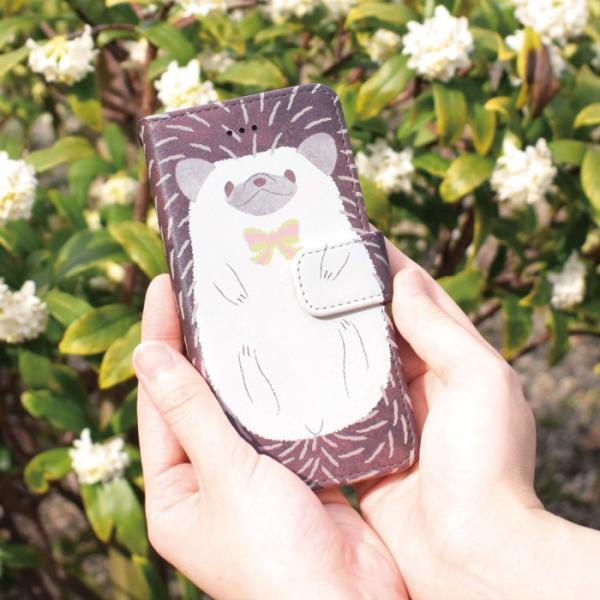 スマホケース 手帳型 iphonexs ケース 携帯ケース アイフォンxs スマホカバー 手帳 アイホン おしゃれ 動物 ハリネズミ|kintsu|07
