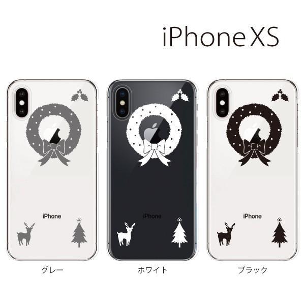 スマホケース iphonexs スマホカバー 携帯ケース アイフォンxs TPU素材 カバー クリスマスリース|kintsu
