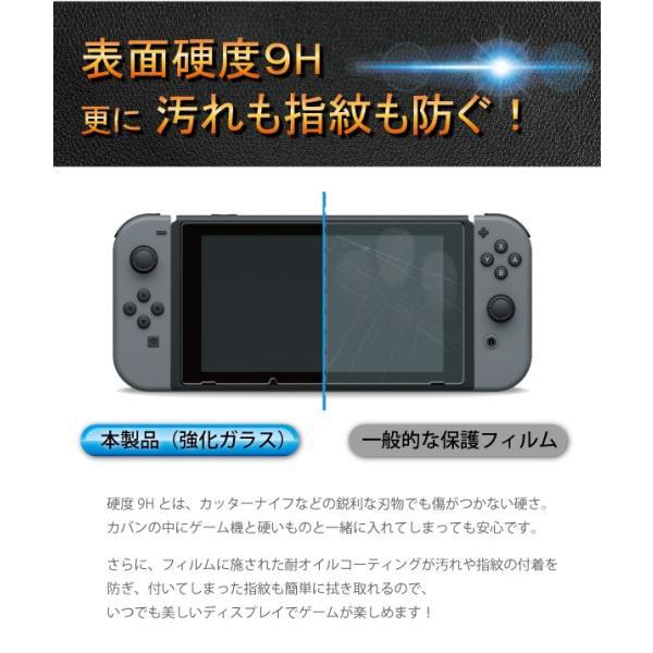 Nintendo Switch ブルーライト強化ガラスフィルム 送料無料 液晶保護 画面保護 表面硬度9H ニンテンドースイッチ 任天堂|kintsu|03