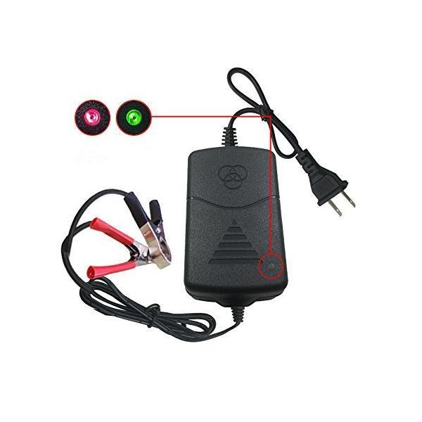 12Vバッテリー充電器トラックオートバイ汎用LEDインジケーター付けオートバイバッテリーチャージャー