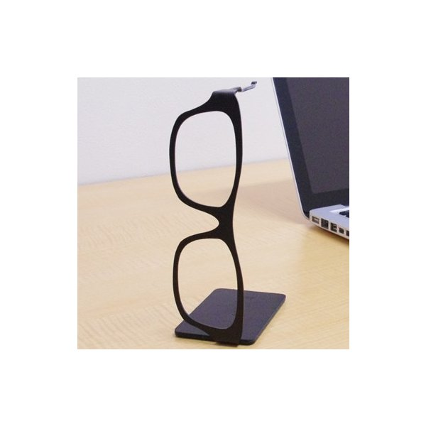 meganeHanger Glasses <メガネハンガー グラシーズ> スクエア黒/黒|kinzokuoh|03