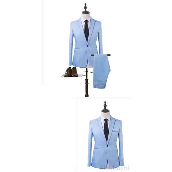 メンズスーツセット ビジネススーツ メンズスーツ スーツセット スーツセットアップ  上下セット フォーマル 就活 就職 紳士服 結婚式 通勤 2019新作 kirabosi 02