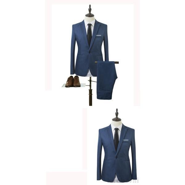 メンズスーツセット ビジネススーツ メンズスーツ スーツセット スーツセットアップ  上下セット フォーマル 就活 就職 紳士服 結婚式 通勤 2019新作 kirabosi 05
