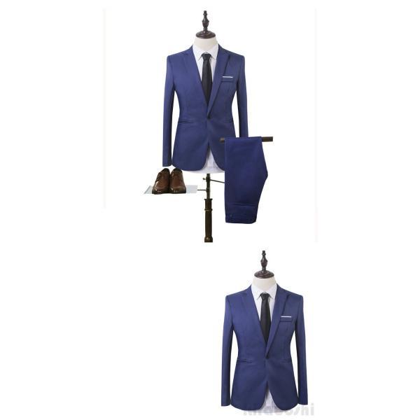 メンズスーツセット ビジネススーツ メンズスーツ スーツセット スーツセットアップ  上下セット フォーマル 就活 就職 紳士服 結婚式 通勤 2019新作 kirabosi 06
