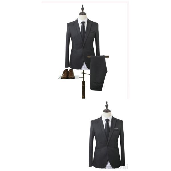 メンズスーツセット ビジネススーツ メンズスーツ スーツセット スーツセットアップ  上下セット フォーマル 就活 就職 紳士服 結婚式 通勤 2019新作 kirabosi 07