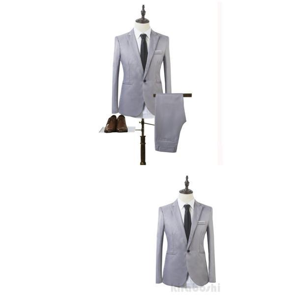 メンズスーツセット ビジネススーツ メンズスーツ スーツセット スーツセットアップ  上下セット フォーマル 就活 就職 紳士服 結婚式 通勤 2019新作 kirabosi 08