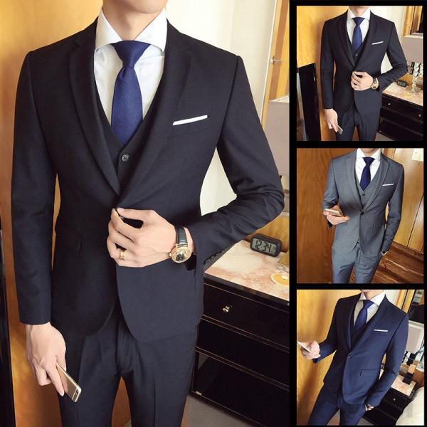 スーツ メンズ スーツセットアップ  ビジネススーツ 上下セット 三点セット フォーマル 細身 紳士服 卒業式 大人式 結婚式 通勤 就職 おしゃれ 2019新作|kirabosi