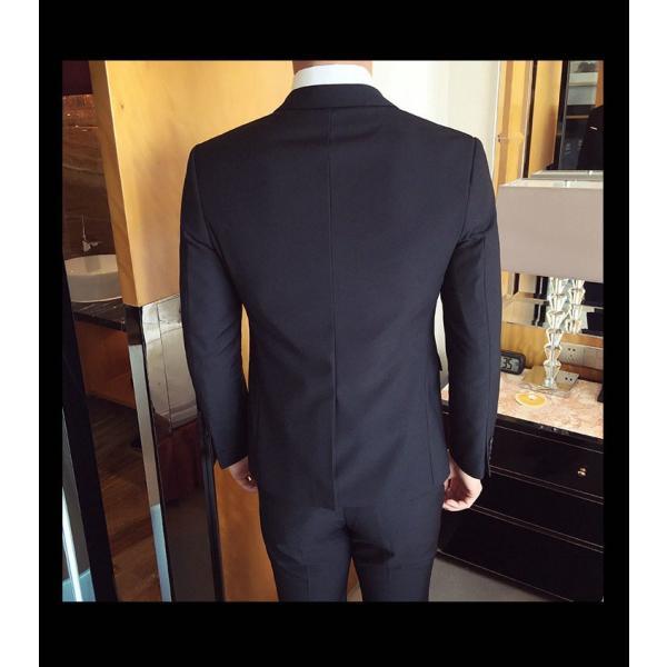 スーツ メンズ スーツセットアップ  ビジネススーツ 上下セット 三点セット フォーマル 細身 紳士服 卒業式 大人式 結婚式 通勤 就職 おしゃれ 2019新作|kirabosi|04