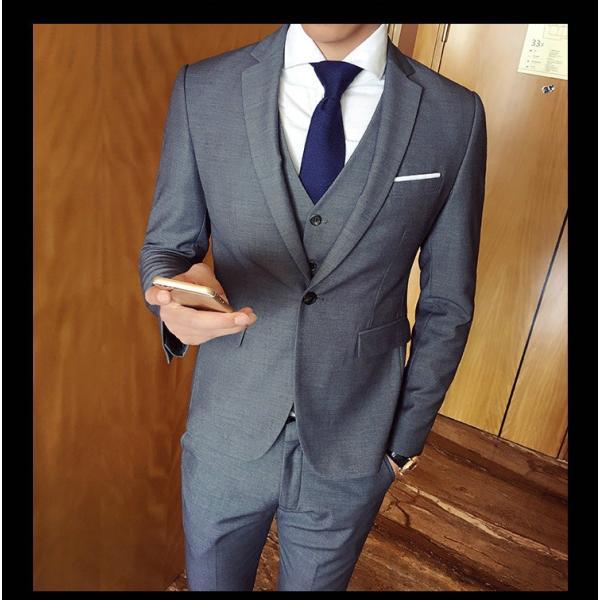 スーツ メンズ スーツセットアップ  ビジネススーツ 上下セット 三点セット フォーマル 細身 紳士服 卒業式 大人式 結婚式 通勤 就職 おしゃれ 2019新作|kirabosi|05