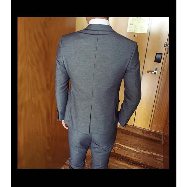 スーツ メンズ スーツセットアップ  ビジネススーツ 上下セット 三点セット フォーマル 細身 紳士服 卒業式 大人式 結婚式 通勤 就職 おしゃれ 2019新作|kirabosi|07