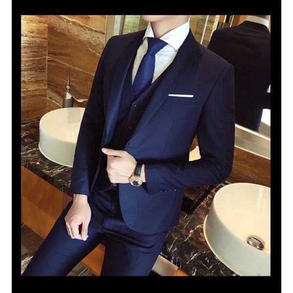 スーツ メンズ スーツセットアップ  ビジネススーツ 上下セット 三点セット フォーマル 細身 紳士服 卒業式 大人式 結婚式 通勤 就職 おしゃれ 2019新作|kirabosi|09