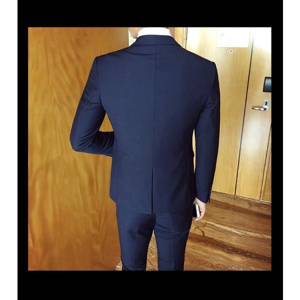 スーツ メンズ スーツセットアップ  ビジネススーツ 上下セット 三点セット フォーマル 細身 紳士服 卒業式 大人式 結婚式 通勤 就職 おしゃれ 2019新作|kirabosi|10