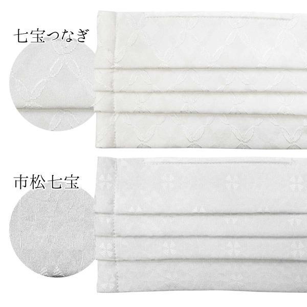 シルク マスク プリーツ 日本製 洗える 不織布フィルター 正絹 三層構造 繰り返し使える 抗菌 ウイルス対策 白 クリーム 市松 七宝|kirakukai|08